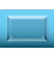 Glass plaque blue