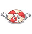 grinning swim tube character cartoon vector image vector image