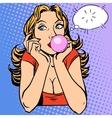 Gum girl bubble vector image vector image