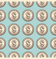 hand draw vintage coin seamless pattern vector image vector image
