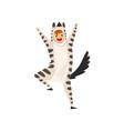 happy man wearing zebra animal costume person