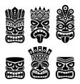 hawaiian and polynesia tiki head totem design vector image