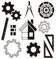 House construction icons vector image vector image