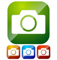 icons with photo camera camera symbol vector image