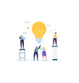 idea with light bulb and business people character vector image