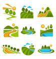 landscape design company vetor green trees nature vector image