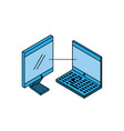 laptop computer with desktop vector image vector image