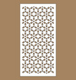 laser pattern decorative panel for vector image vector image