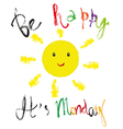 Monday greeting vector image