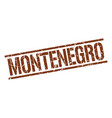 montenegro brown square stamp vector image vector image