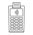 nfc payment terminal icon outline style vector image