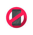 no mobile phone sign flat vector image