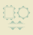 ornament decorative frame collection 02 vector image vector image