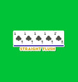 paper sticker on stylish background poker vector image
