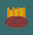 pixel icon in flat style french fries vector image vector image