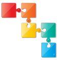 puzzle infoghaphics vector image vector image