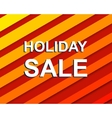 Red striped sale poster with HOLIDAY SALE text vector image vector image