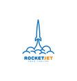 Rocket jet logo