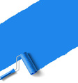 roller brush blue vector image vector image