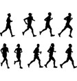 runners silhouettes collection vector image