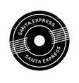 Santa Express rubber stamp vector image vector image