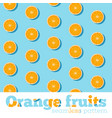 seamless pattern with fresh oranges vector image