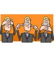 see hear speak no evil cartoon vector image vector image