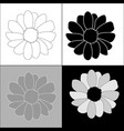 set flowers on four background vector image