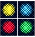 Set of abstract neon light black texture vector image