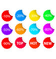 Set of colorful business sale offer tags stock