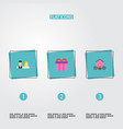 set of engagement icons flat style symbols with vector image vector image