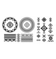 set of ethnic decorative elements in geometric vector image
