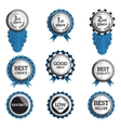 set of flat badges with text vector image