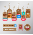 Set of retail sale tags design elements vector image vector image