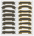 Set Vintage ribbons and banners with gold vector image