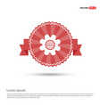setting icon - red ribbon banner vector image