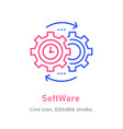 software line icon on white background editable vector image vector image
