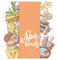 spa salon wellness beauty hand drawn doodle vector image vector image