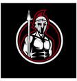 spartan soldier logo designs vector image