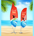 surf club 2 advertisement beach banners vector image