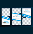 templates for vertical web banners with blue vector image vector image