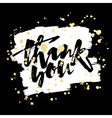 thank you card hand lettering motivation poster vector image vector image
