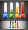 thermometer templates vector image