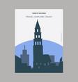 tower of nevyansk russia vintage style landmark vector image vector image