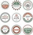 vintage design label premium quality vector image