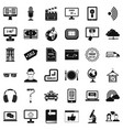 web equipment icons set simple style vector image vector image