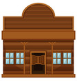 western style building for shop vector image vector image