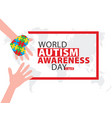 world autism awareness day banner