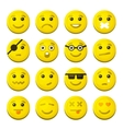 Yellow Smile Emotion Icons Set vector image vector image
