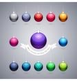 Colorful Shiny Christmas Balls vector image